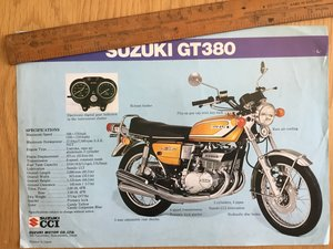 1974 Suzuki gt250 and gt 380 brochure For Sale