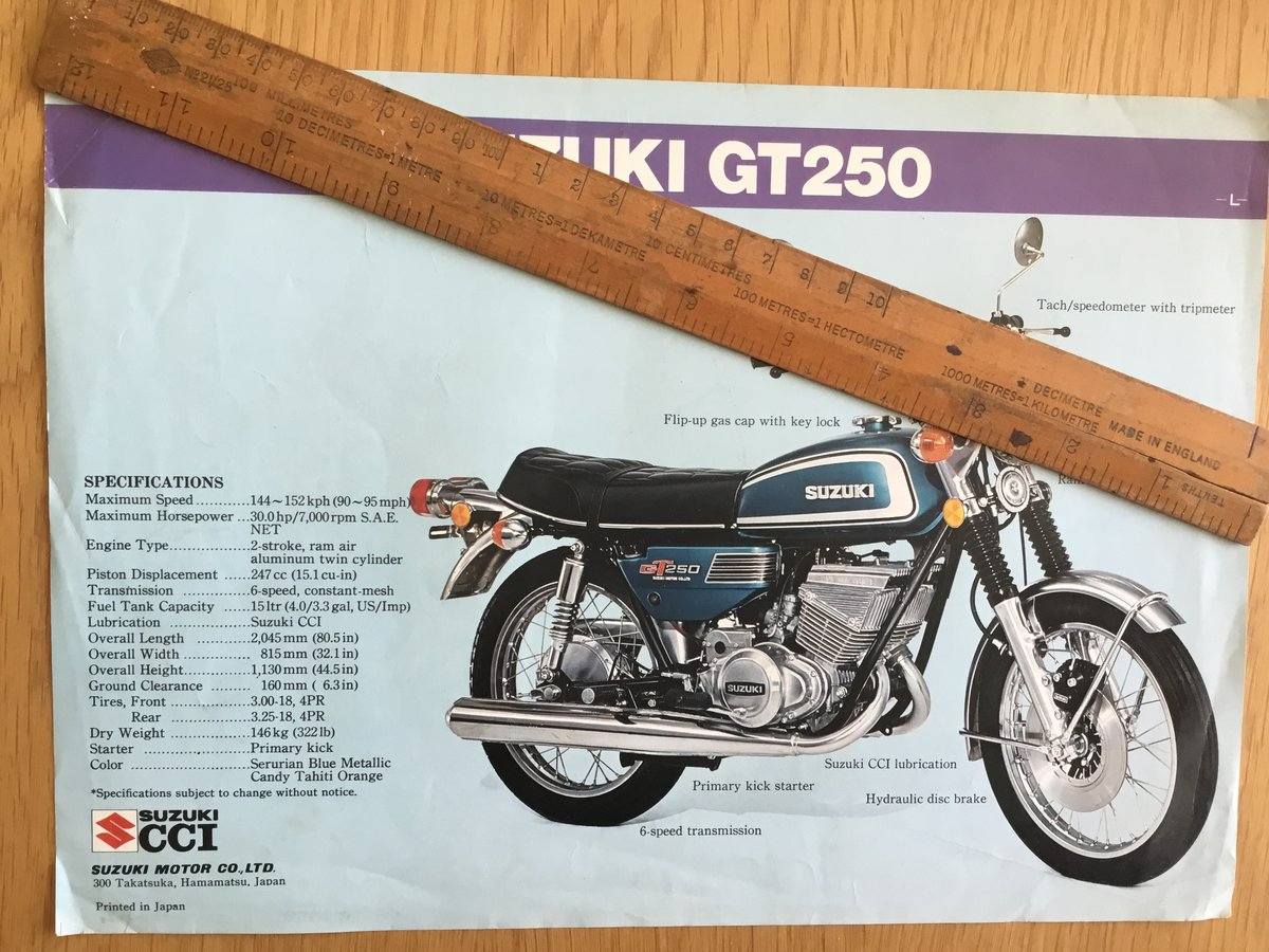 1974 Suzuki gt250 and gt 380 brochure For Sale (picture 2 of 2)