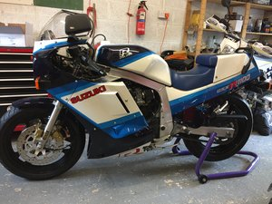 Suzuki GSXR 1100 White/Blue Rare First Year