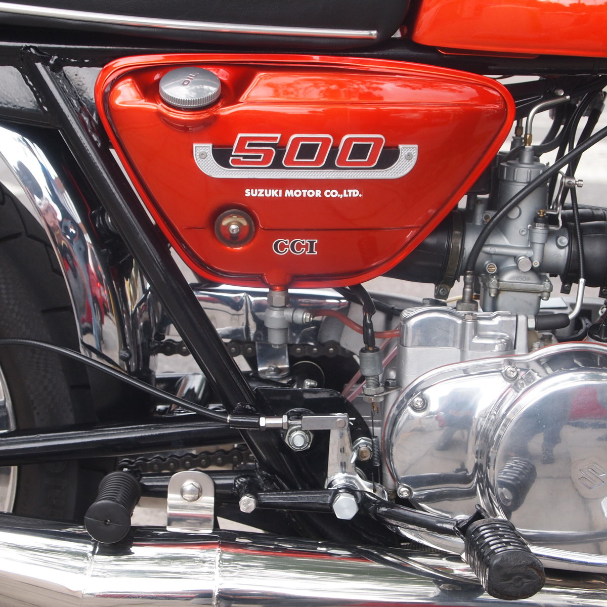 1974 Suzuki T500 In Beautiful Condition, RESERVED FOR TERRY. SOLD (picture 5 of 6)