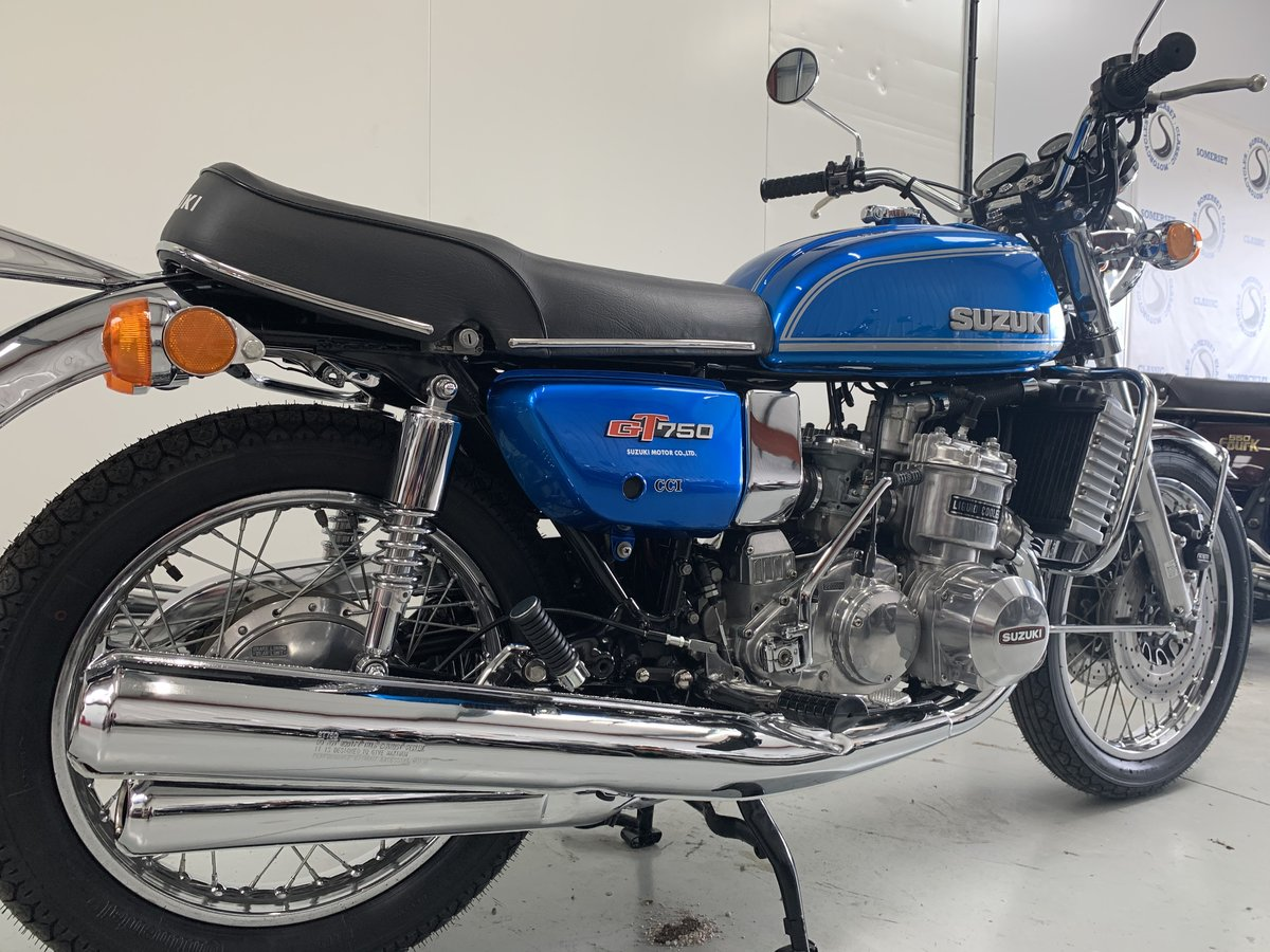 1975 Suzuki GT750 Blue Two stroke triple 16k miles SOLD (picture 1 of 6)