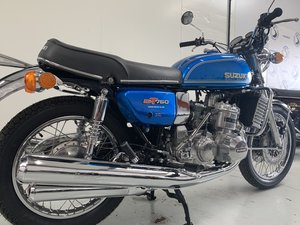 Suzuki GT750 Blue Two stroke triple 16k miles