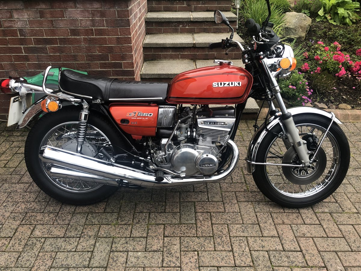 1975 Suzuki GT550 M Model with Nissan GTR reg For Sale (picture 1 of 6)