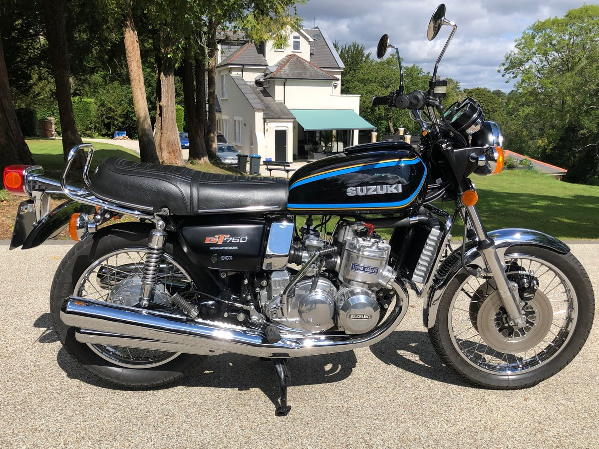 1977 GT750B Superb restored UK bike SOLD (picture 1 of 6)