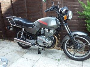 Classic Suzuki 1982 lady  rider/owner VMCC member.