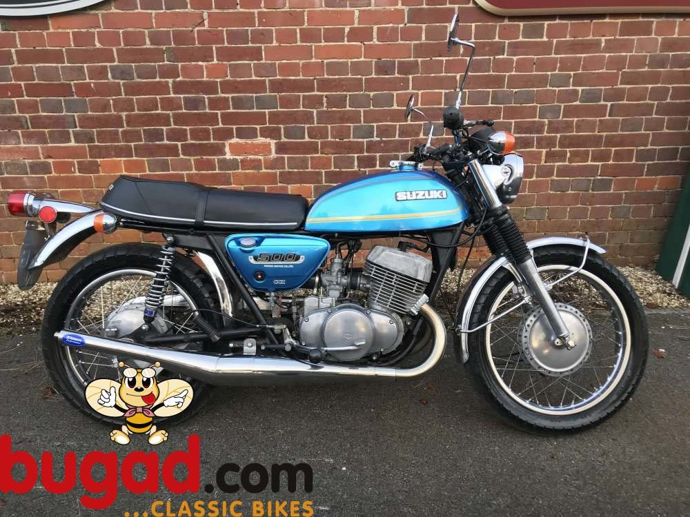 Suzuki T500 Titan 1974 Two Stroke, Expansion Cans For Sale (picture 1 of 6)