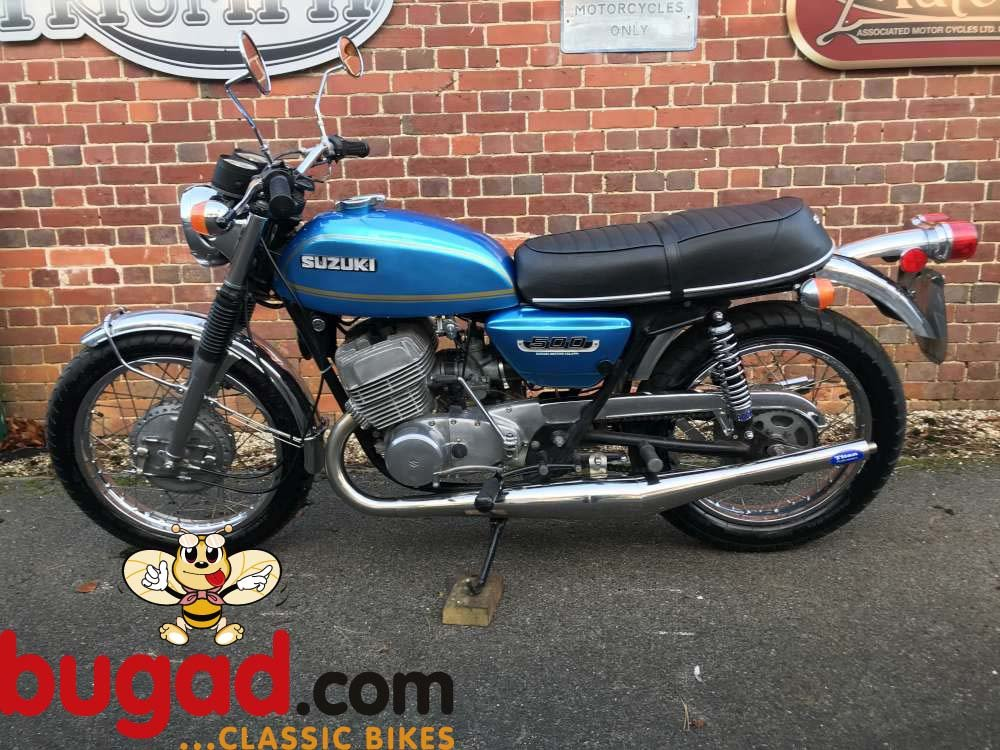 Suzuki T500 Titan 1974 Two Stroke, Expansion Cans For Sale (picture 5 of 6)
