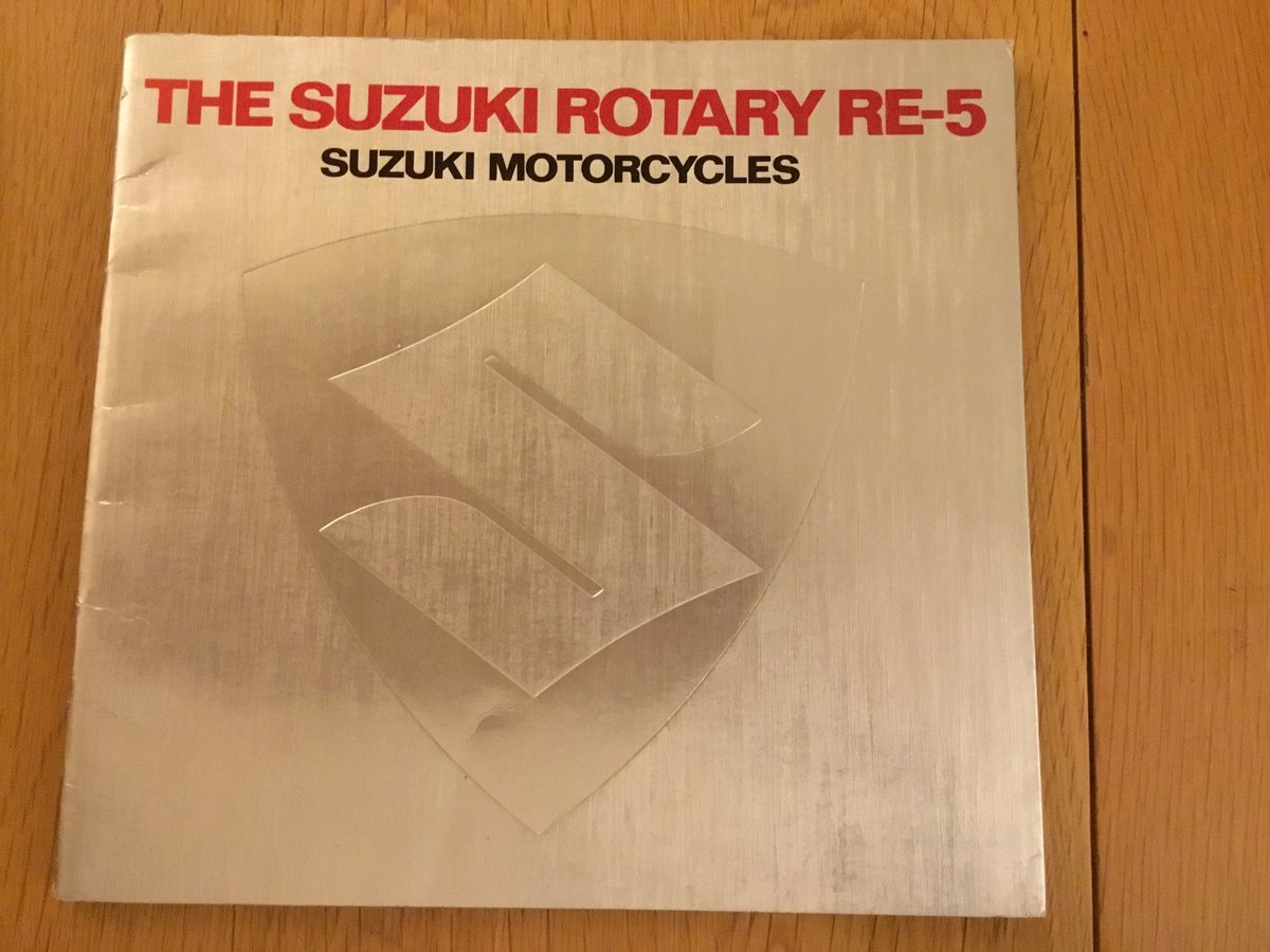1975 Suzuki RE-5 rotary Brochure SOLD (picture 1 of 1)