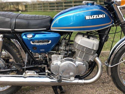 Suzuki T500 1973 UK Example SOLD (picture 4 of 6)