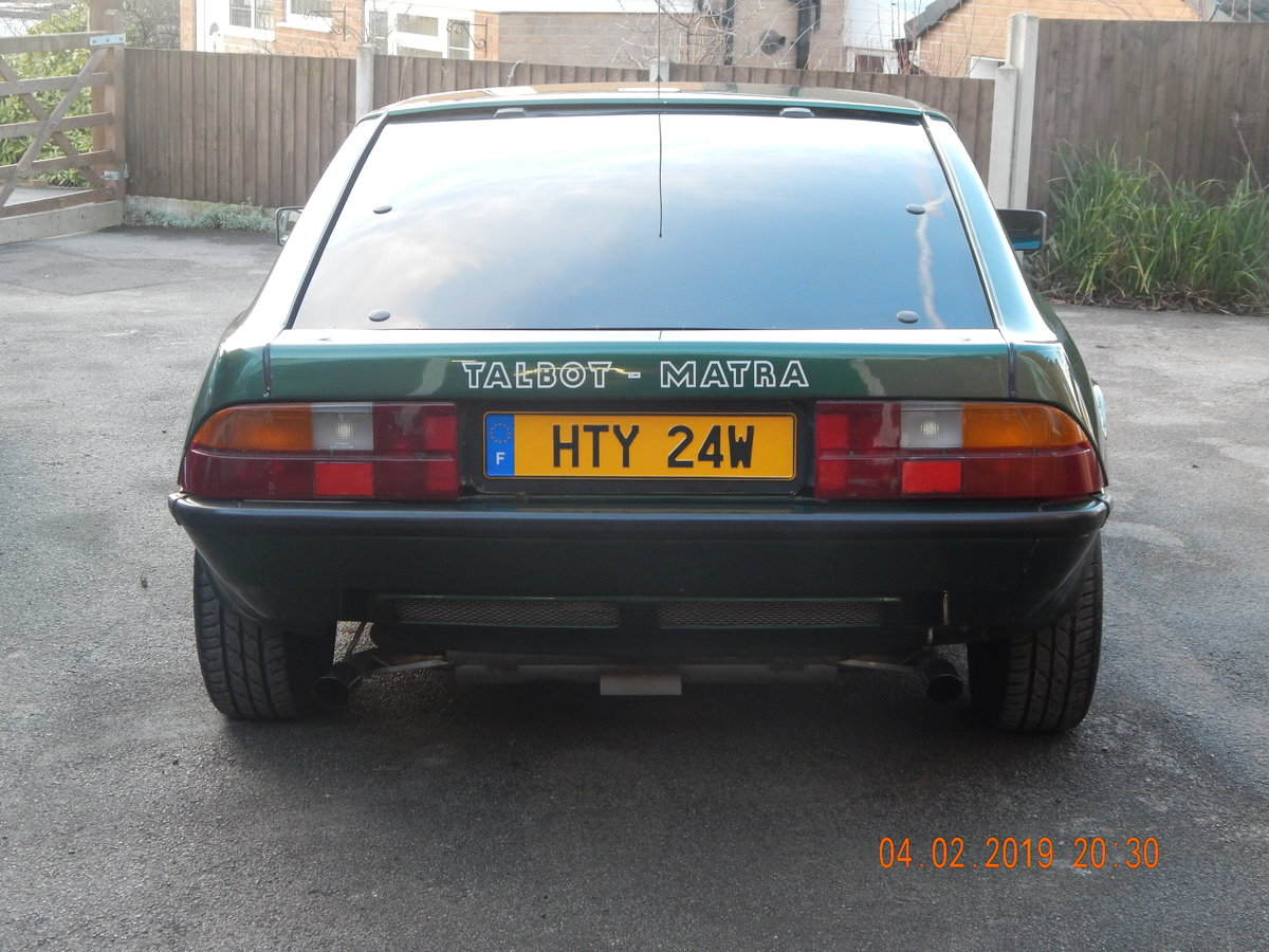 1983 Talbot Matra Murena 2.2 SOLD (picture 4 of 6)