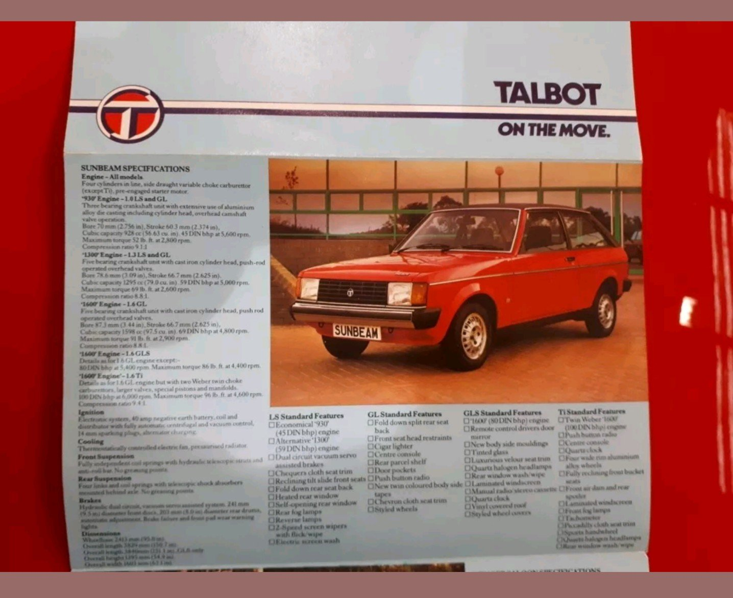 1980 Talbot Sunbeam Very Rare Pre Production  For Sale (picture 5 of 6)