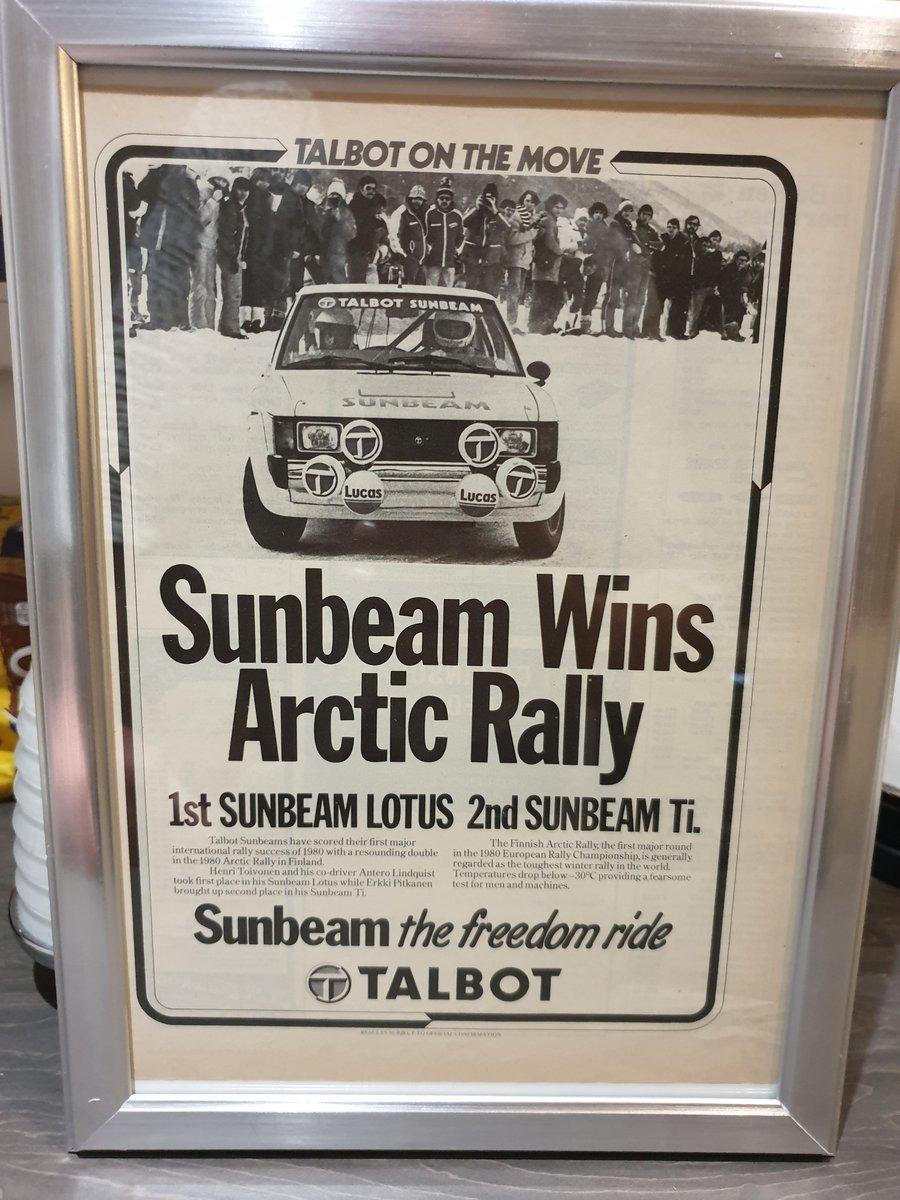 1980 Talbot Sunbeam Advert Original  For Sale (picture 1 of 2)