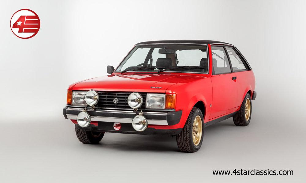 1980 Talbot Sunbeam 1.6 GLS /// Twin Webers /// 57k Miles For Sale (picture 1 of 6)