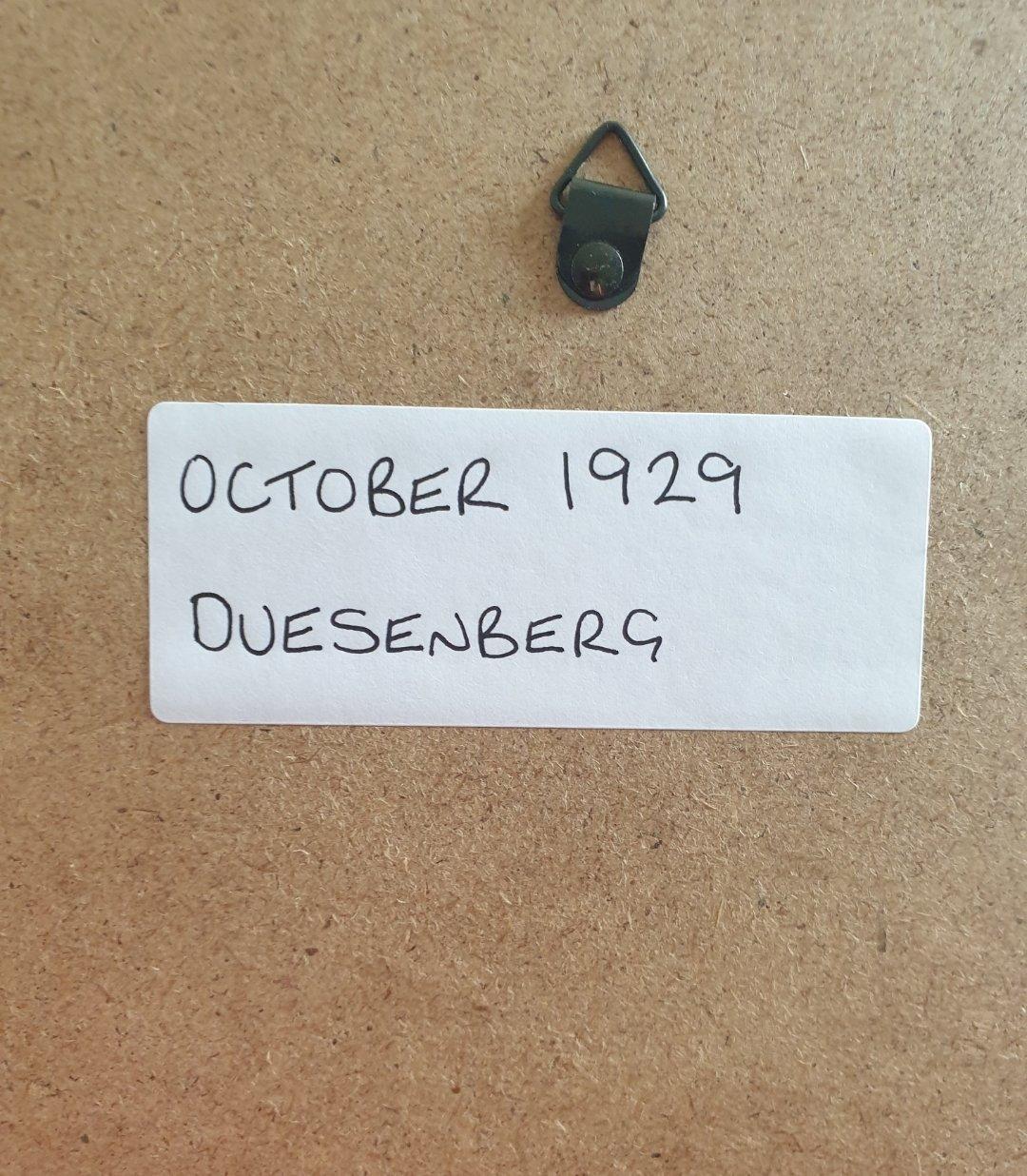 1980 Original 1929 Duesenberg Framed Advert  For Sale (picture 2 of 3)