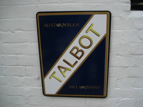 Talbot garage wall sign For Sale (picture 1 of 1)