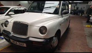 Rare white taxi ideal for wedding business