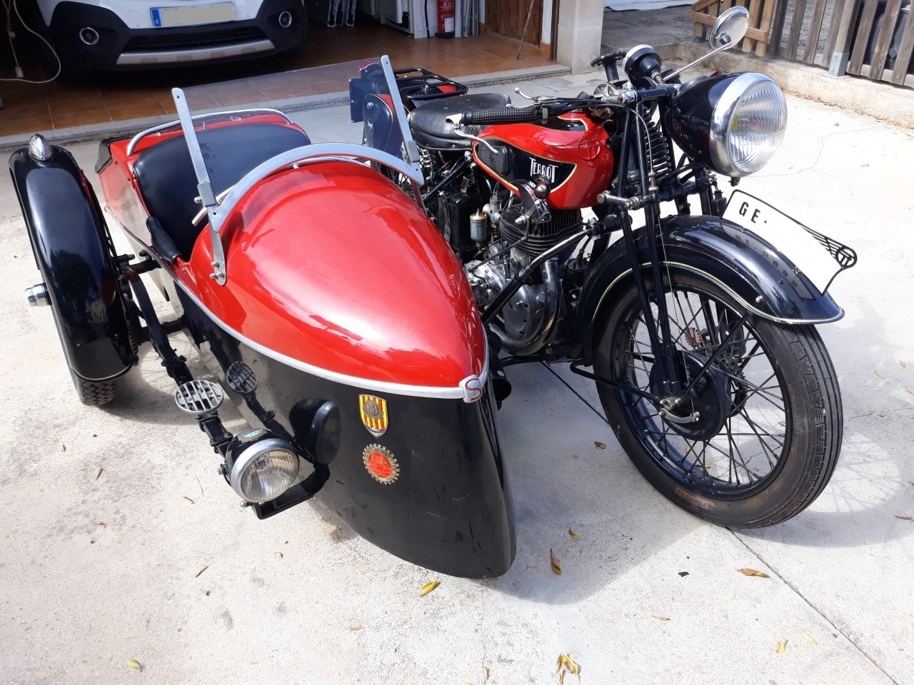 Picture of 1935 Terrot 500cc. w/ sidecar -very good original cond. For Sale