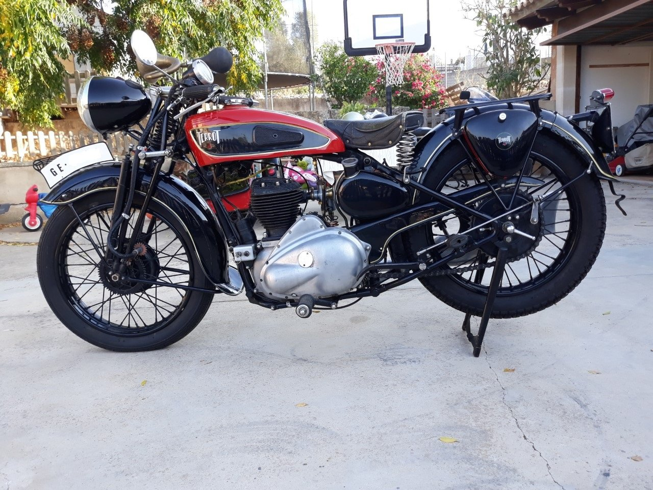 1935 Terrot 500cc. w/ sidecar -very good original cond. For Sale (picture 2 of 6)