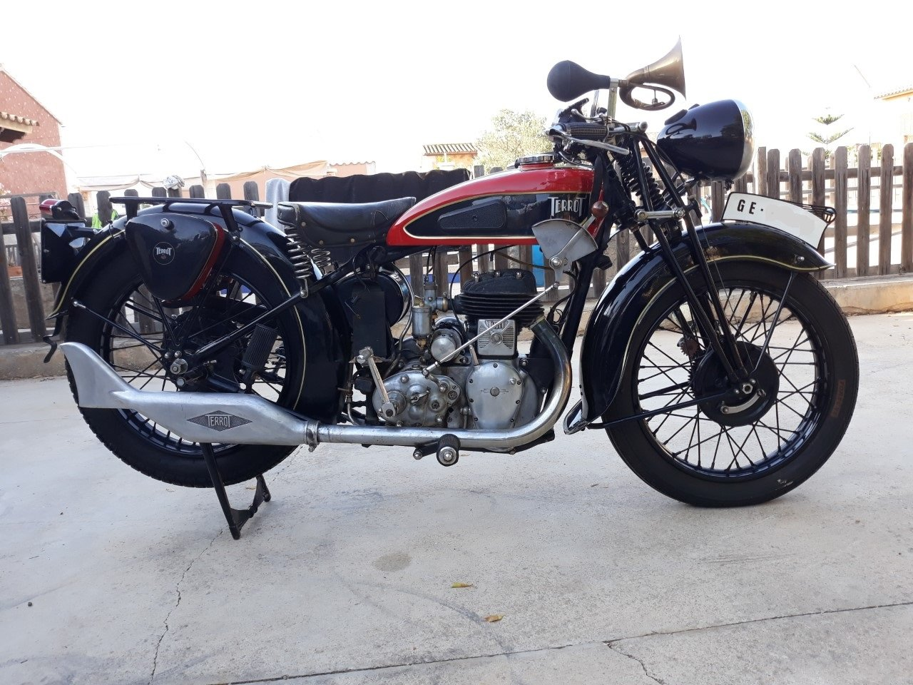 1935 Terrot 500cc. w/ sidecar -very good original cond. For Sale (picture 3 of 6)