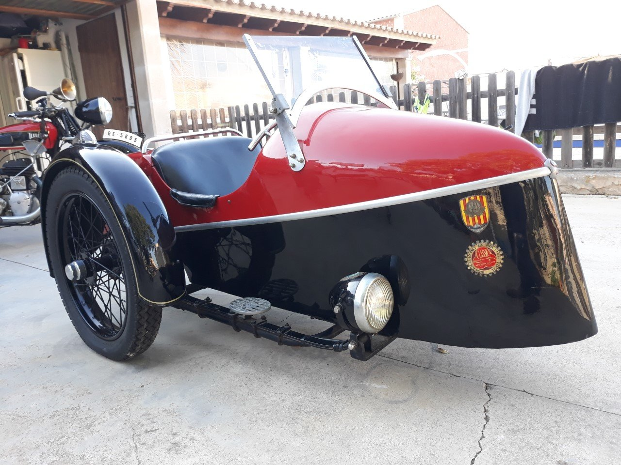 1935 Terrot 500cc. w/ sidecar -very good original cond. For Sale (picture 4 of 6)