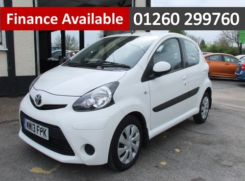2013 TOYOTA AYGO 1.0 VVT-I ICE 5DR SOLD (picture 1 of 6)