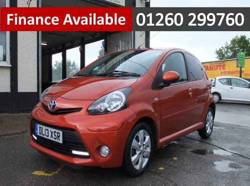 2013 TOYOTA AYGO 1.0 VVT-I FIRE AC 5DR SOLD (picture 1 of 6)