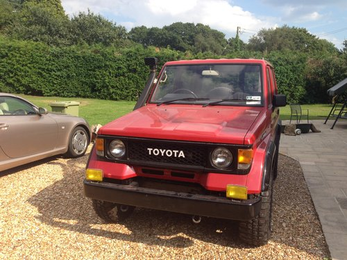 1989 Land Cruiser LJ 70 very low mileage and like new SOLD (picture 1 of 6)