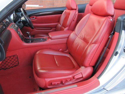 2003 LEXUS SC 430 CONVERTIBLE V8 RED LEATHER For Sale (picture 3 of 6)