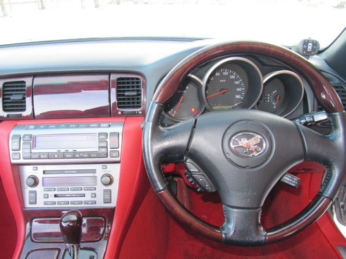 2003 LEXUS SC 430 CONVERTIBLE V8 RED LEATHER For Sale (picture 5 of 6)