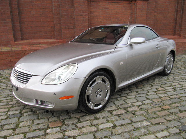 2003 LEXUS SC 430 CONVERTIBLE V8 RED LEATHER For Sale (picture 1 of 6)