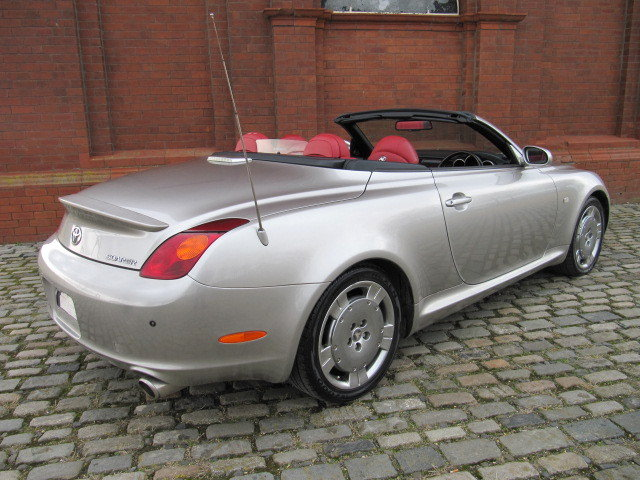 2003 LEXUS SC 430 CONVERTIBLE V8 RED LEATHER For Sale (picture 2 of 6)