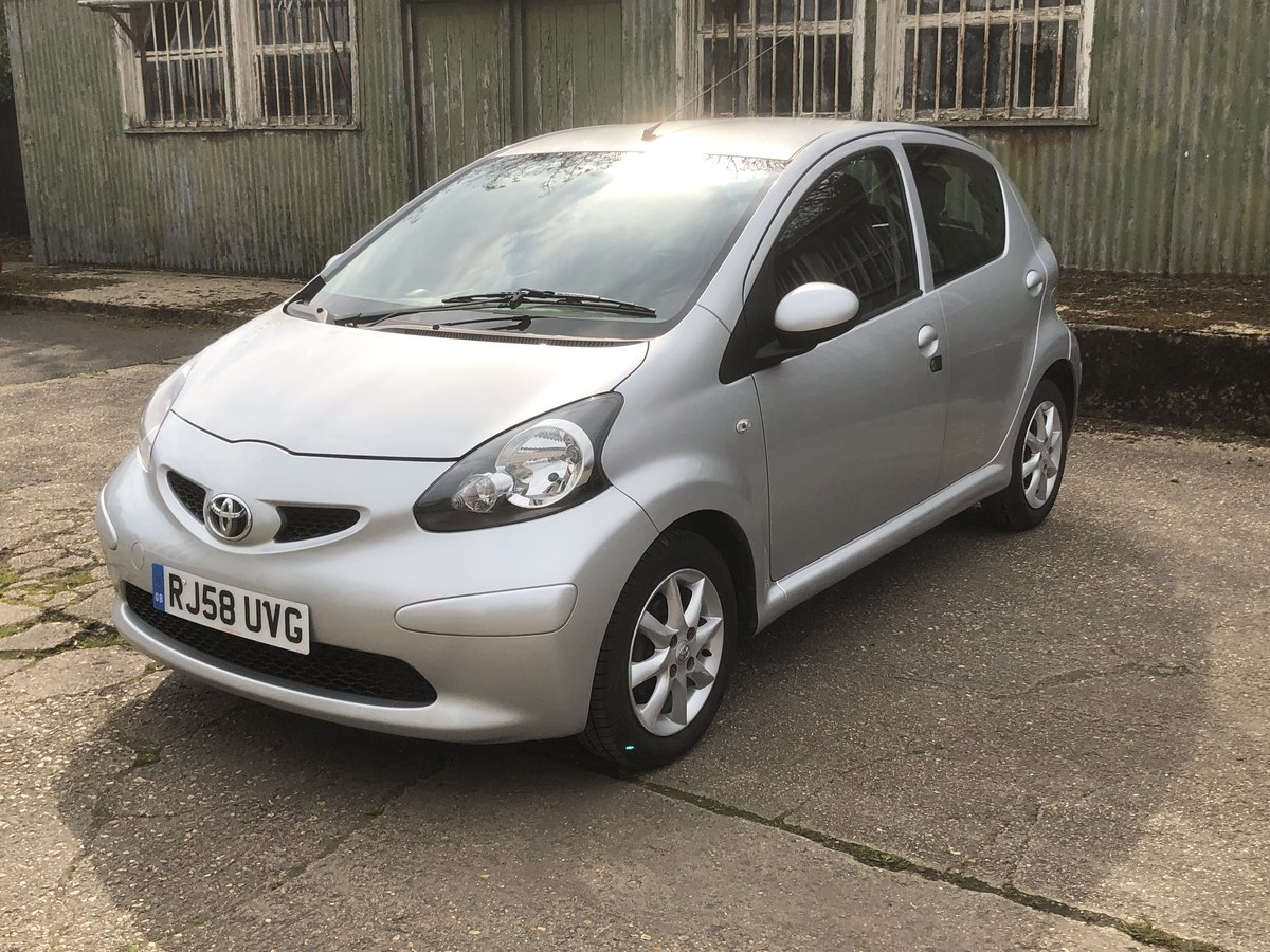 2008 Toyota Aygo 1.0 5 door £20 tax Driveaway For Sale (picture 1 of 6)