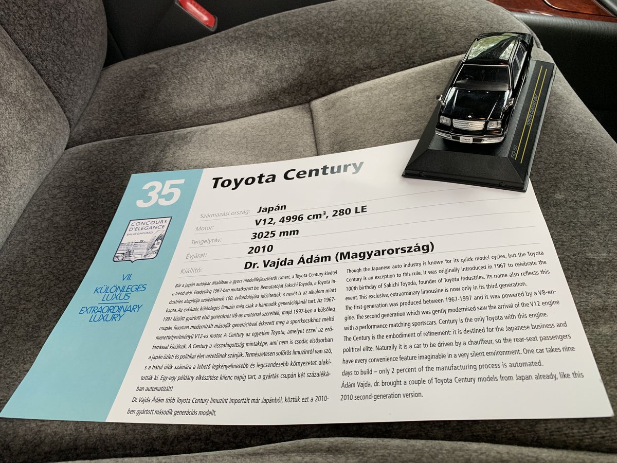 Toyota Century 2006 and 2010 model year For Sale (picture 4 of 6)