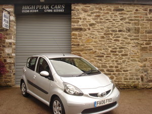 2006 06 TOYOTA AYGO 1.0 VVTI + 5DR 48060 MILES A/C. For Sale