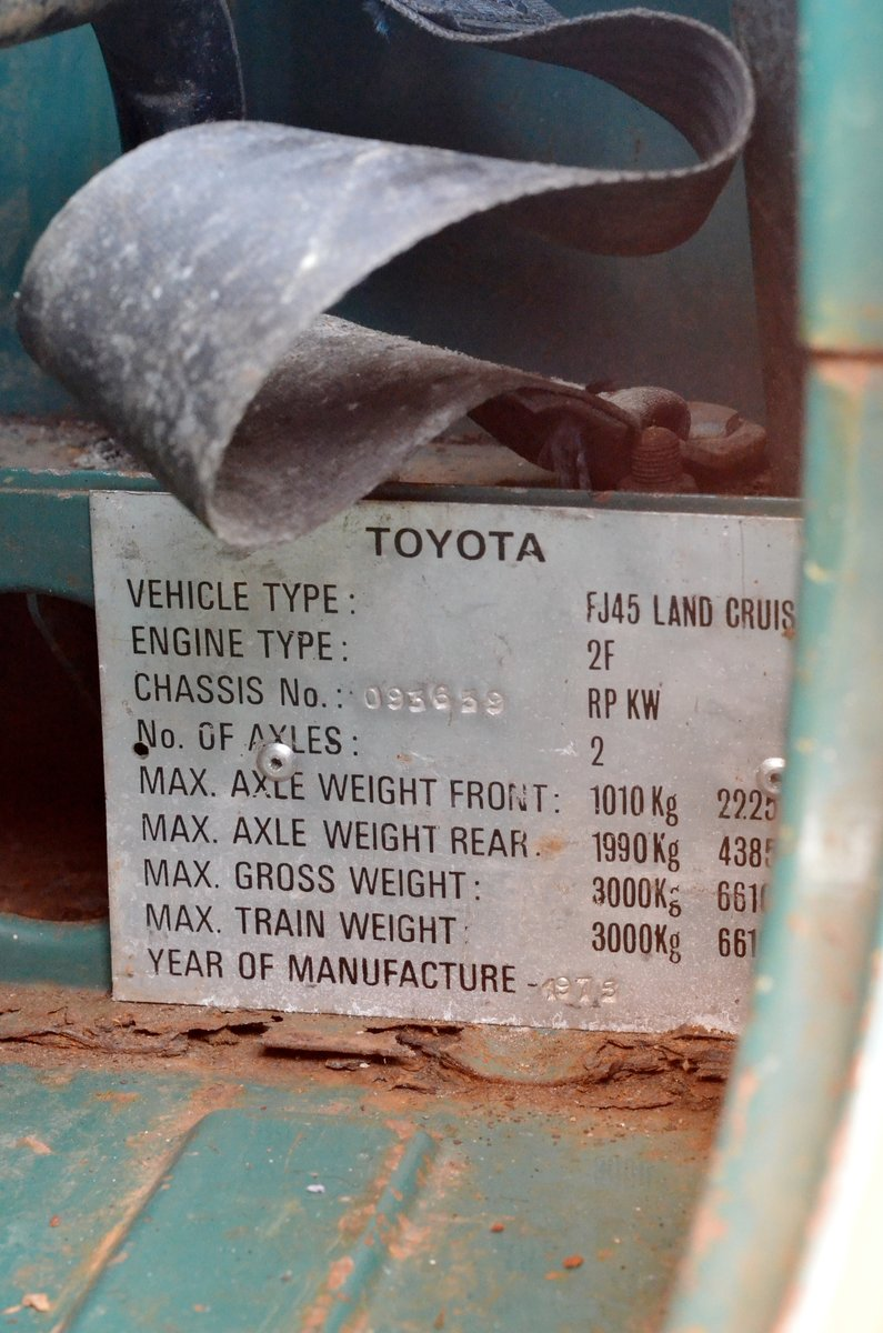 1976 Toyota Landcruiser FJ45 One-of-two UK reg original For Sale (picture 5 of 6)