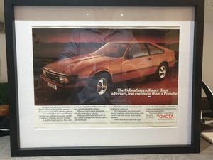 1983 Toyota Celica Supra advert Original