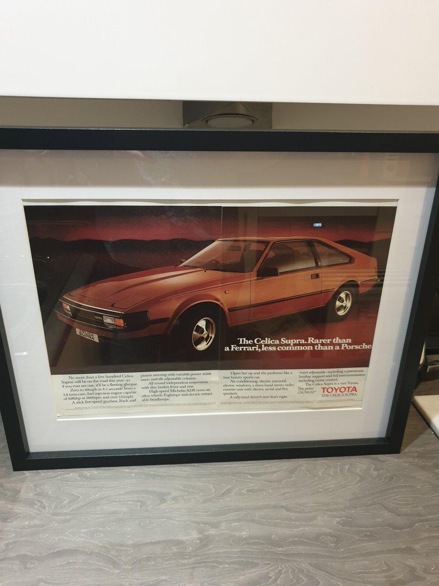 1983 Toyota Celica Supra advert Original  For Sale (picture 2 of 3)