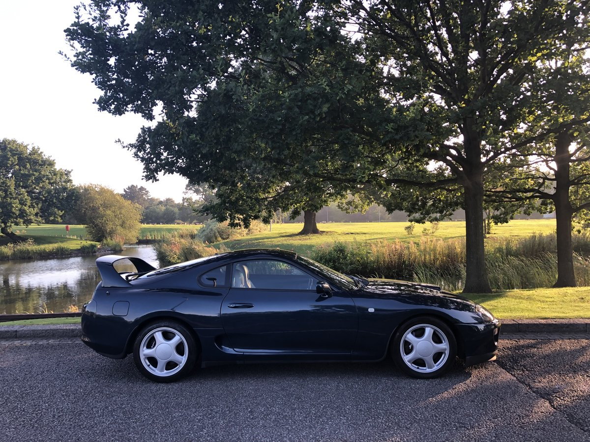 1996 Supra Twin Turbo Storm Blue UK Spec 6 Speed Manual For Sale (picture 2 of 6)