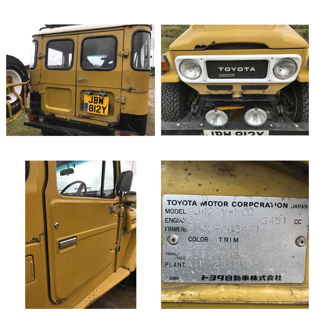 1983 Toyota Land Cruiser BJ42  For Sale (picture 5 of 6)