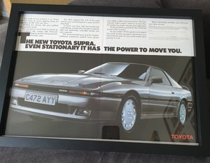 1986 Toyota Supra Advert Original