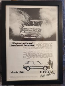 1985 Toyota Corolla Advert Original