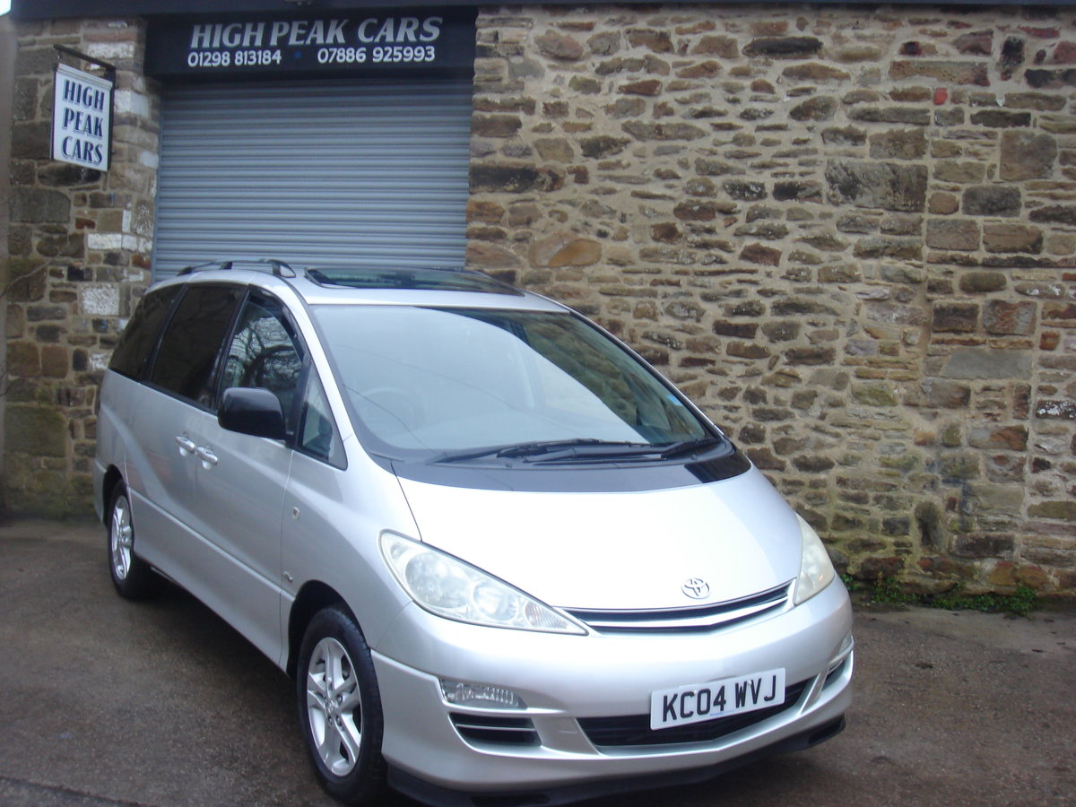 2004 04 TOYOTA PREVIA 2.0 D-4D T SPIRIT. 7 SEATS. LEATHER. For Sale (picture 1 of 6)