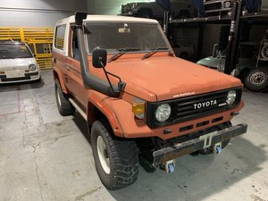 1980 Toyota Land Cruiser Diesel 4x4 RHD Orang(~) Black driver $27 For Sale