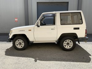 1992 Toyota Land Cruiser Series 70 Diesel RHD 3 Doors White For Sale