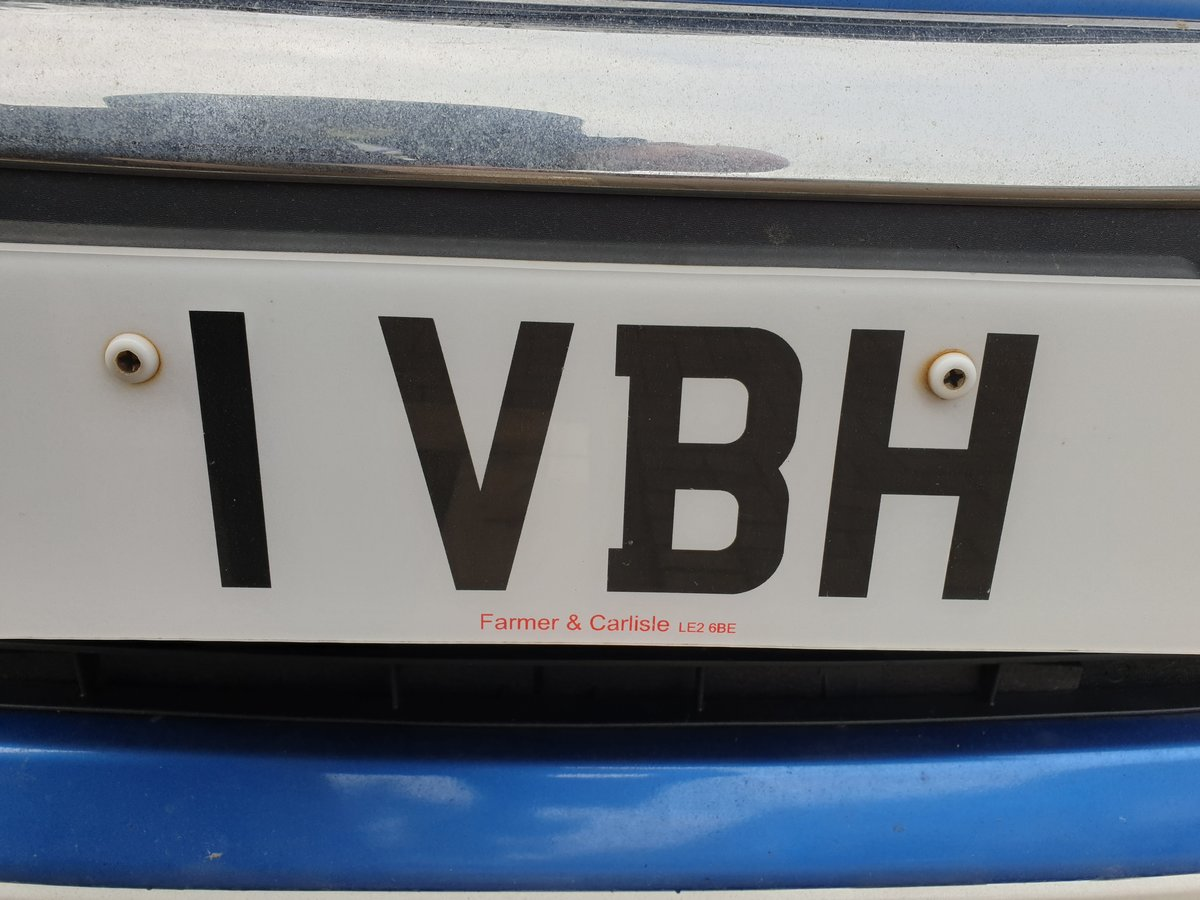 1989 Reg No I VBH For Sale (picture 1 of 1)