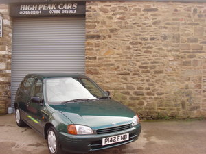 1996 P TOYOTA STARLET 1.3 SPORTIF 5DR. 57540 MILES. SUPERB. For Sale