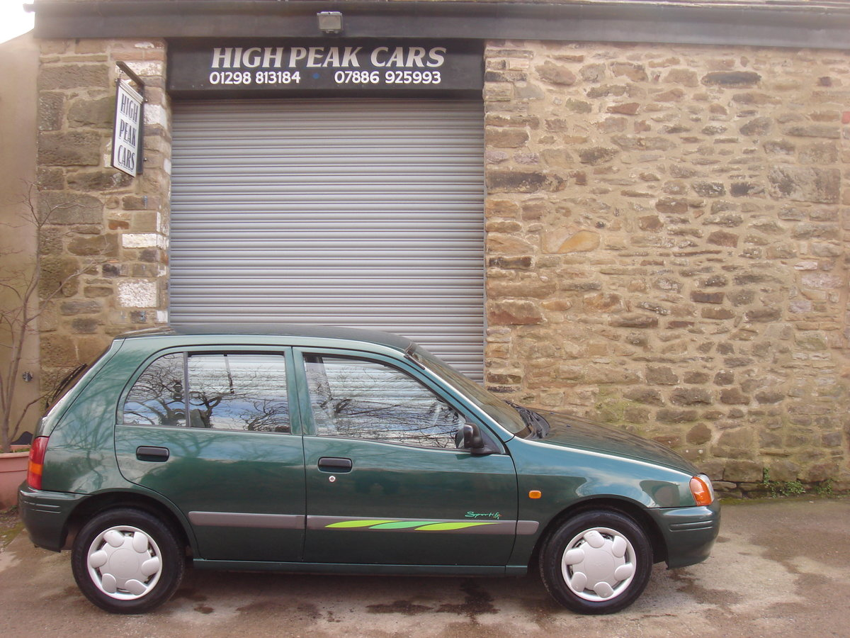 1996 P TOYOTA STARLET 1.3 SPORTIF 5DR. 57540 MILES. SUPERB. For Sale (picture 5 of 6)