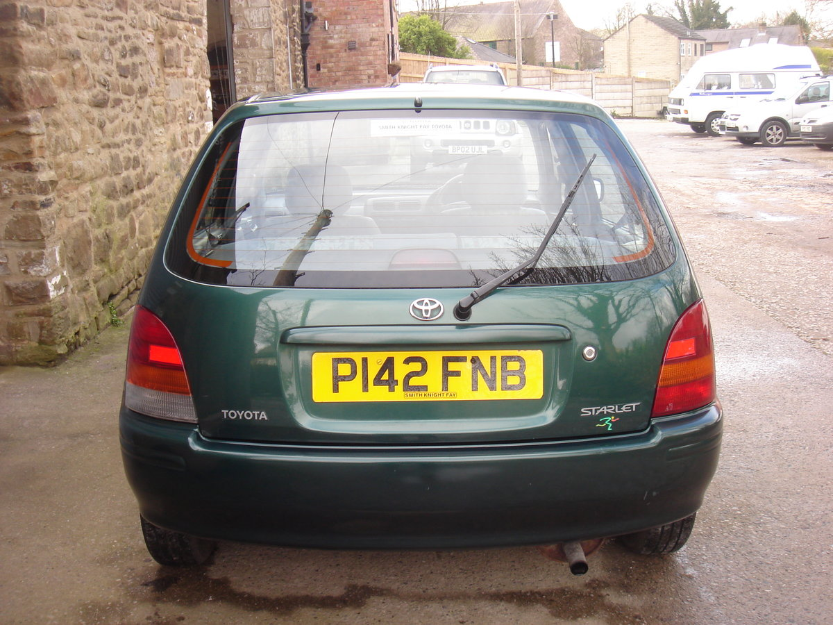 1996 P TOYOTA STARLET 1.3 SPORTIF 5DR. 57540 MILES. SUPERB. For Sale (picture 4 of 6)