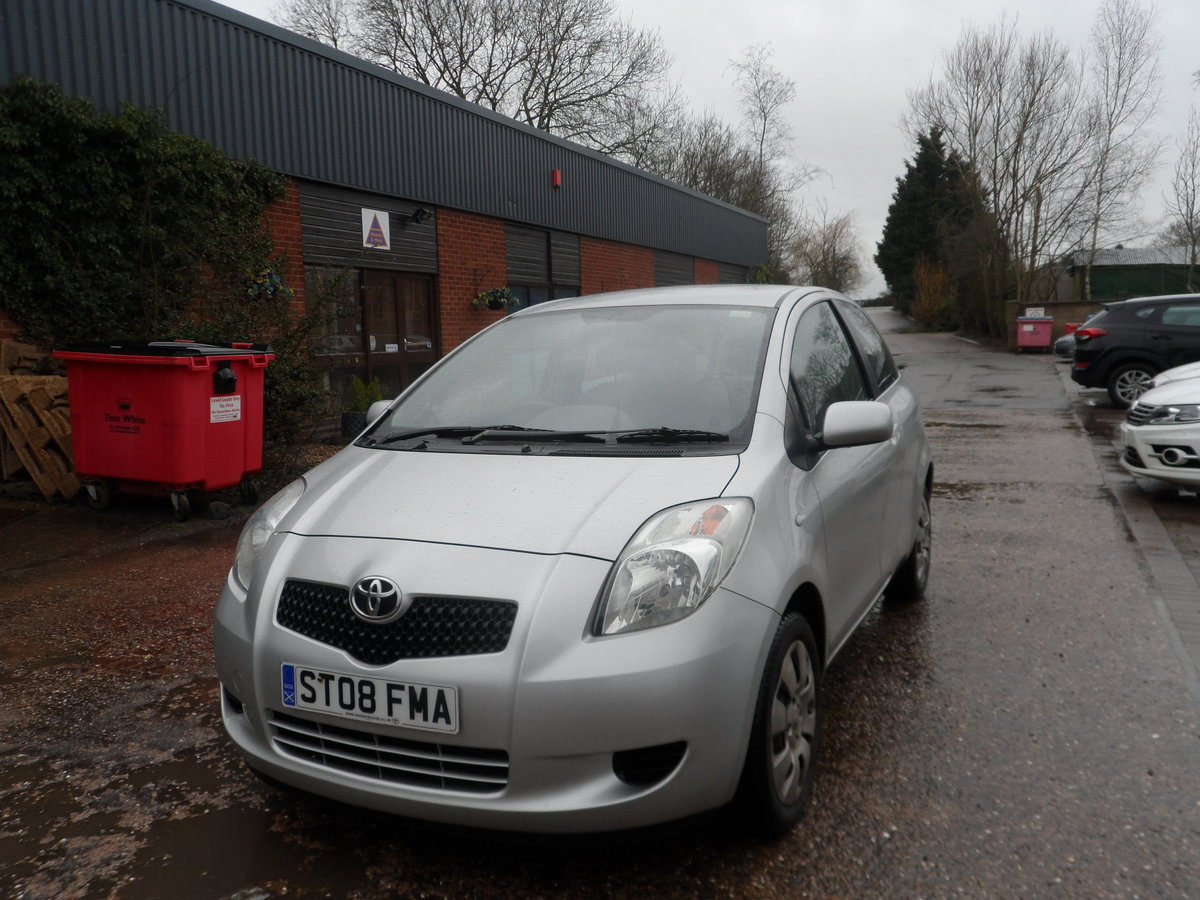 2008 SOUND DRIVER THIS 1LTR 3 DOOR YARIS WITH LONG MOT A/C ABS For Sale (picture 1 of 5)