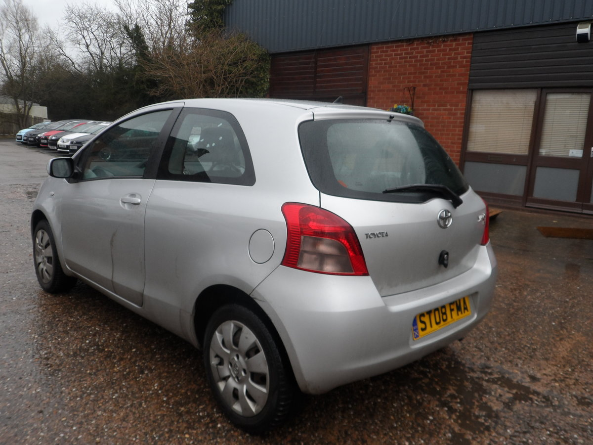 2008 SOUND DRIVER THIS 1LTR 3 DOOR YARIS WITH LONG MOT A/C ABS For Sale (picture 3 of 5)